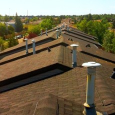 A roof in Calgary that our Calgary roofing company installed.