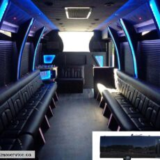 Ford F550 A-1 Limo Party Bus Rental Interior (1)